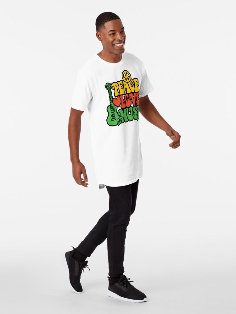 Alternative Ansicht von Reggae Peace-Love-Musik Longshirt