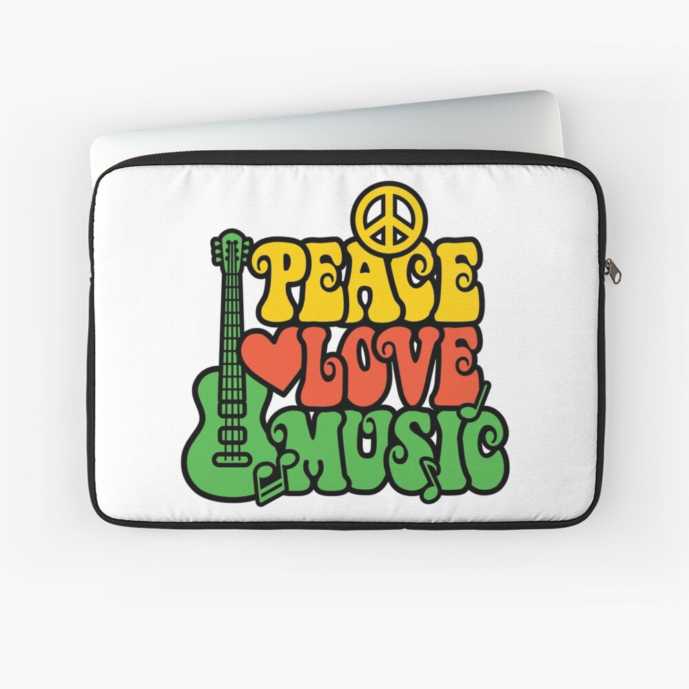 Reggae Peace-Love-Musik Laptoptasche