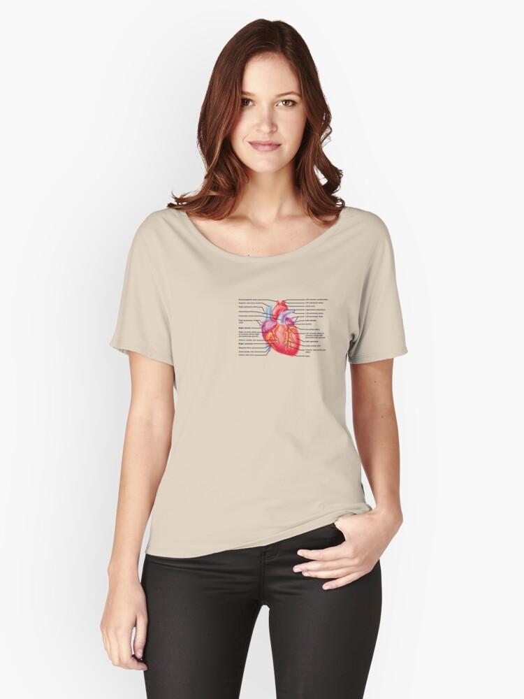 Camisetas anchas para mujer «anatomía del corazón» de wayweroll ...