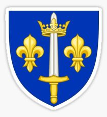 Coat of Arms of Joan of Arc Sticker