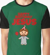 Jesus Happy Birthday Boy Graphic T-Shirt