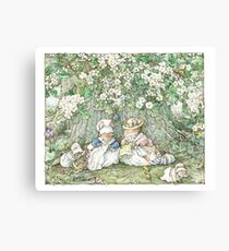 Brambly Hedge - Hawthorn blossom and babies Canvas Print