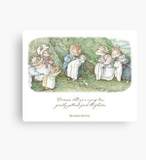 Brambly Hedge Naming Ceremony Canvas Print