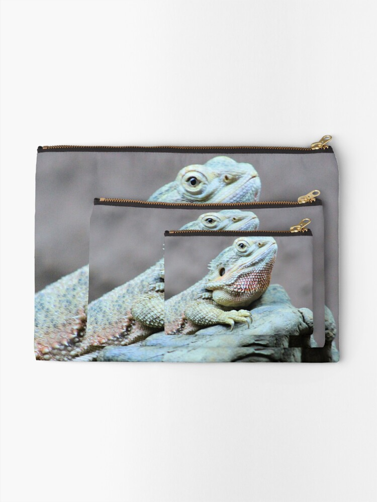 Alternate view of Iguana Zipper Pouch