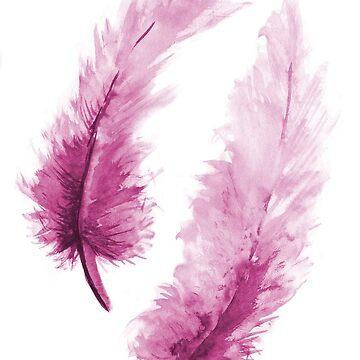 Purple feathers by MaijaR