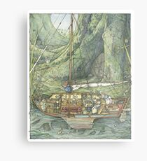 Cutaway of Dustys Boat Metal Print