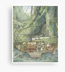 Cutaway of Dustys Boat Canvas Print