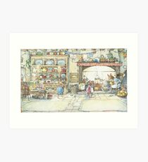 The Kitchen At Crabapple Cottage Art Print