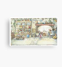 The Kitchen At Crabapple Cottage Canvas Print