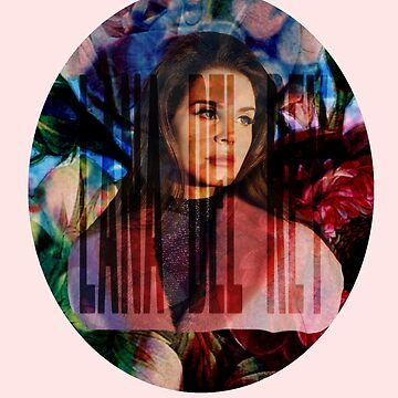 Lana Del Rey - Floral Background by Haydenbefort