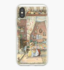 Lady Woodmouse gets Primrose ready for bed iPhone Case