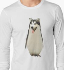 Husky Penguin Long Sleeve T-Shirt
