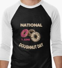 National Doughnut Day 1 June 2018 Baseball ¾ Sleeve T-Shirt