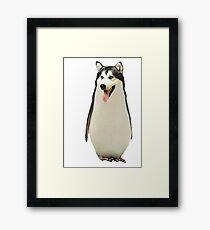 Husky Penguin Framed Print