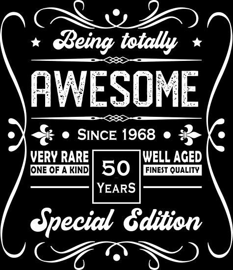 50th Birthday Shirt I Born 1968 Gifts T Shirts
