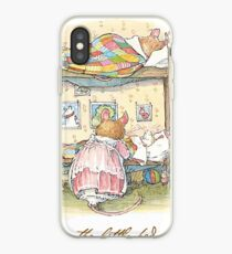 Lady Woodmouse gets the little mice into bed iPhone Case