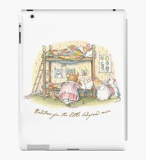 Lady Woodmouse gets the little mice into bed iPad Case/Skin