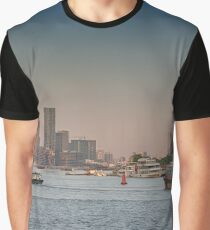 Busy Shanghai Pudong River   Graphic T-Shirt