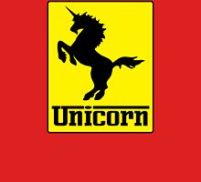 Prancing Unicorn Car Logo Parody T Shirt Womens Fitted T-Shirt