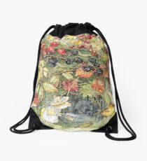 Primrose at the entrance to the tunnels Drawstring Bag