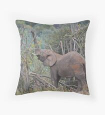 Breaking branches Throw Pillow