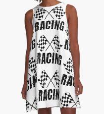Zielflagge A-Linien Kleid