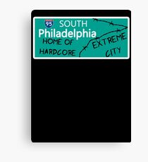 ECW Philadelphia - Hardcore City T shirt Canvas Print