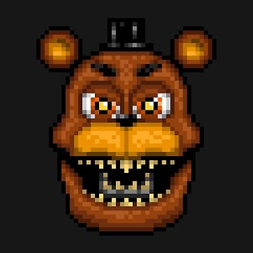 Adventure Nightmare Freddy - FNAF World - Pixel Art by GEEKsomniac