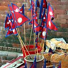 Nepalese Flags by John Dalkin