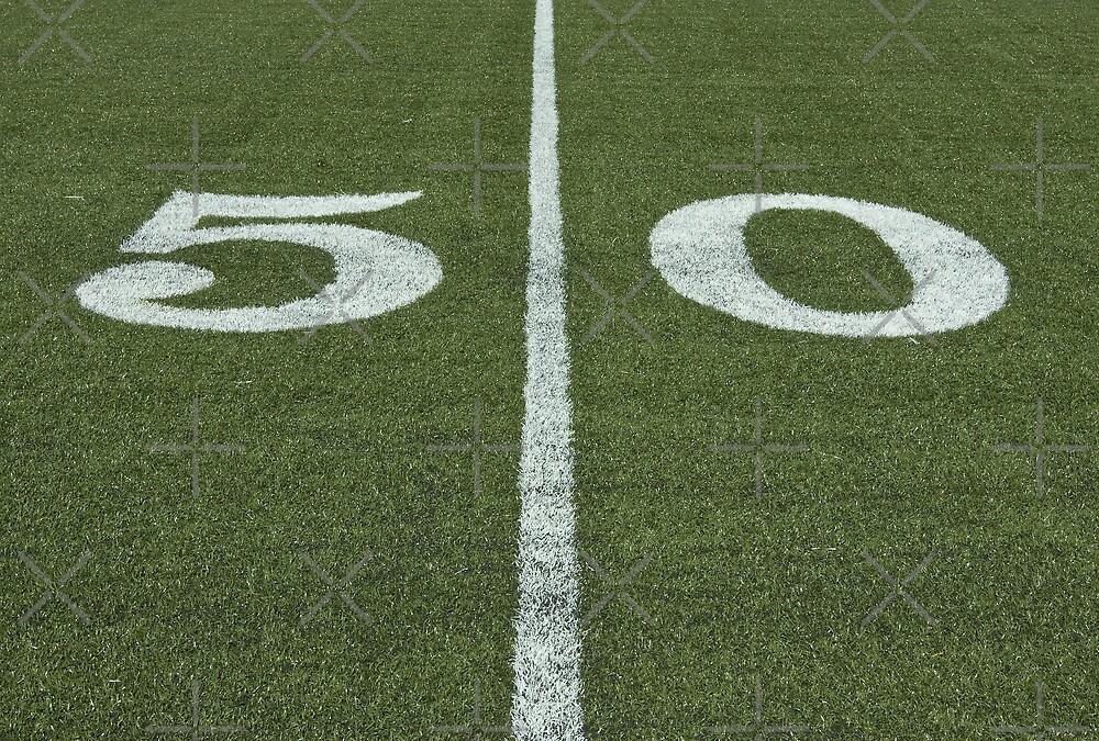 At Midfield - on the Fifty Yard Line by Buckwhite