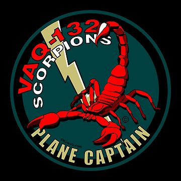 VAQ-132 Scorpions Plane Captain US Navy by Kowulz