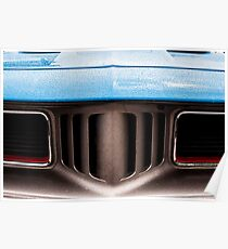Classic Blue Car Grill Poster