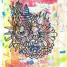 Runcible Rainbow Blotting Paper Mandala by TakoraTakora