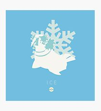 Pokemon Type  - Ice Photographic Print