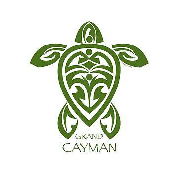 Green Tribal Turtle / Grand Cayman by srwdesign
