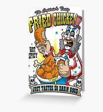 Tasty Fried Chicken Greeting Card