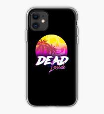 Dead Inside - Vaporwave Miami Aesthetic Spooky Mood iPhone Case