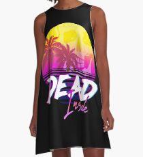 Dead Inside - Vaporwave Miami Aesthetic Spooky Mood A-Line Dress