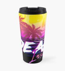 Dead Inside - Vaporwave Miami Aesthetic Spooky Mood Travel Mug