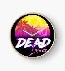 Dead Inside - Vaporwave Miami Aesthetic Spooky Mood Clock
