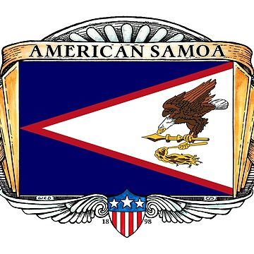 American Samoa Art Deco Design with Flag by Cleave