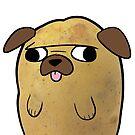 Pugtato Cute Pug T-Shirt by iShirtMyself