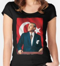 The Great Leader Atatürk Women's Fitted Scoop T-Shirt