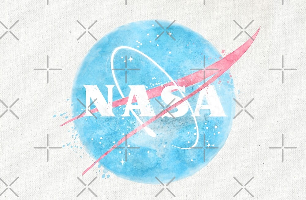 USA Space Agency Vintage Watercolors by Lidra