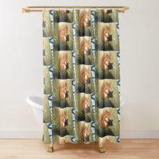 Red Squirrel (Ginger Friend) Shower Curtain