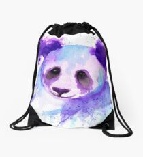 Purple Panda Passion Drawstring Bag
