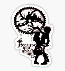 Edward Scissorhands with Kim Sticker