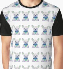 French Bulldog Pattern Graphic T-Shirt