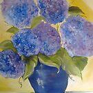 The blue hydrangeas jar by ISABEL ALFARROBINHA