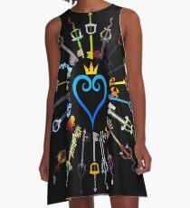 Kingdom Hearts Schlüsselschwerter A-Linien Kleid